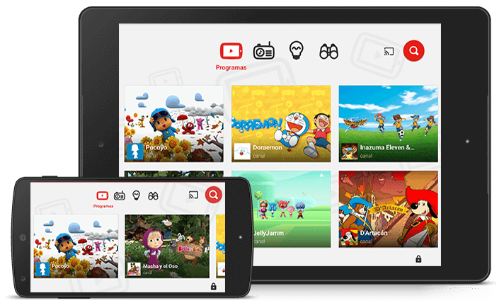 youtube kids en tablet